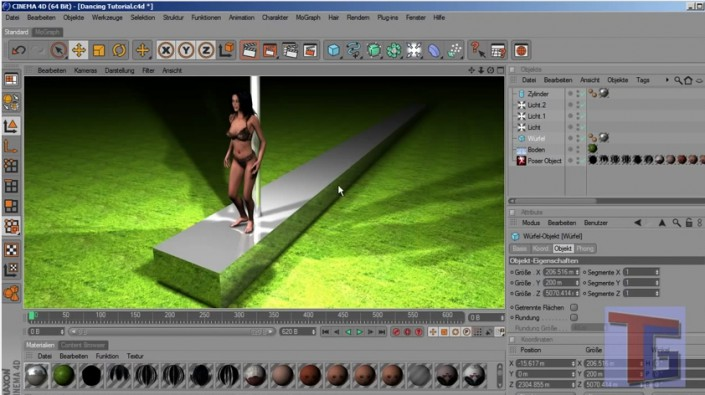 Tutorial Dancing animation in Poser and C4D