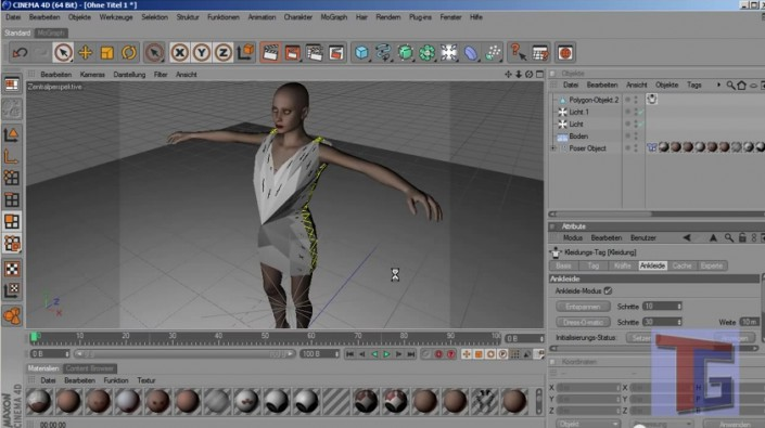 Tutorial: Create female cloth in Cinema 4D with Clothilde (Night dress with black mini skirt)