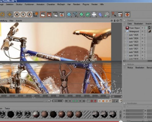 3D Motion Tracking Tutorial: VooDoo (free) and Cinema 4D with woman