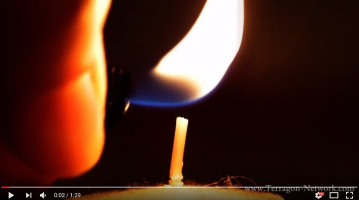 Candle Light Macro Shot